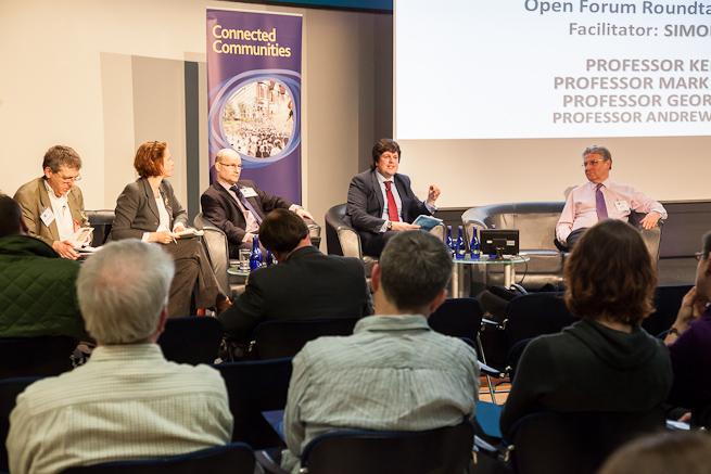 Q & A panel at Showcase